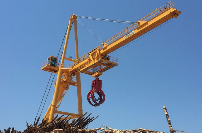 FULGHUM 155ft (45T) RADIAL LOG CRANE